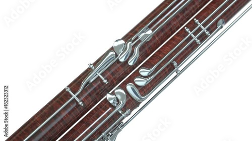 bassoon close up on white background stock footage and royalty free videos on. Black Bedroom Furniture Sets. Home Design Ideas