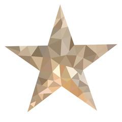 Low poly christmas star