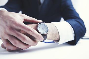 man hand elegant watch