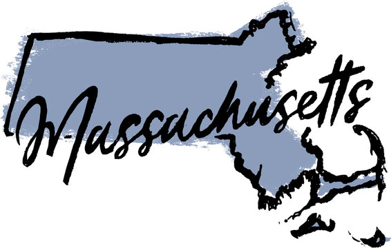 Hand Drawn Massachusetts State Design