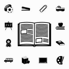 Book icon. Set of education icons