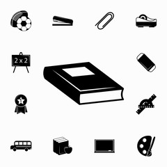 Book vector icon. Set of education icons