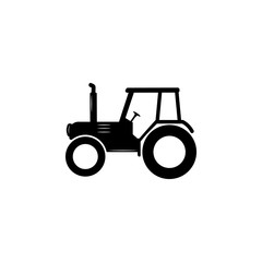 silhouette of a tractor icon