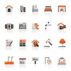 Real Estate services Icons - Vector Icon Set