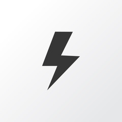 Lightning icon symbol. Premium quality isolated flash element in trendy style.