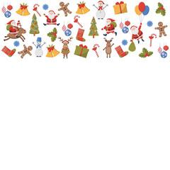 Background of Christmas symbols