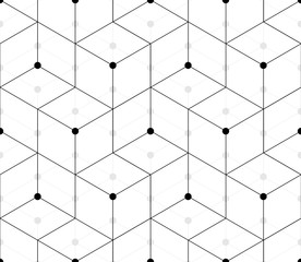 Seamless pattern of triangles and rhombuses