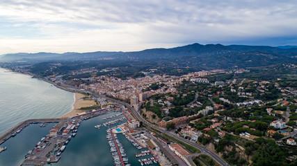 Photographie aérienne d'Arenys de Mar en Catalogne