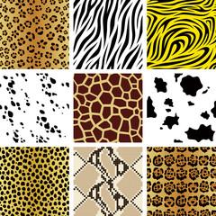 シームレス 動物 柄 パターン 9点 セット