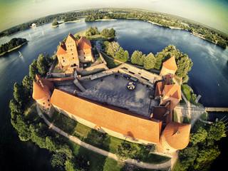 Trakai Castle vinius summer Drone phoro wide lens