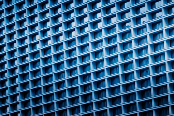 abstract architecture, blue toned image..