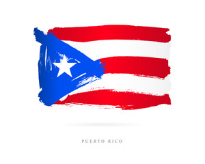 Flag of Puerto Rico. Abstract concept
