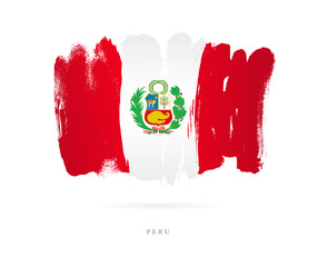 Flag of Peru. Abstract concept