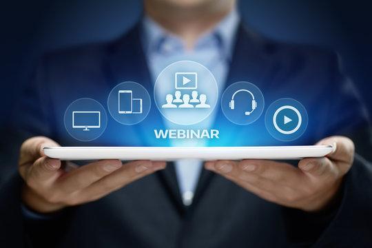 Webinar E-learning Training Business Internet Technology Concept