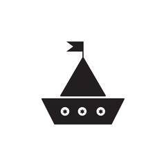 Toy sailing ship icon. Toy element icon. Premium quality graphic design icon. Baby Signs, outline symbols collection icon for websites, web design, mobile app