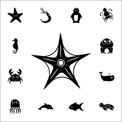 Sea star icon. Set of cute aquatic animal icons. Web Icons Premium quality graphic design. Signs, outline symbols collection, simple icons for websites, web design, mobile app