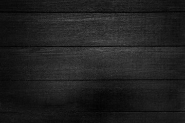 Black wood texture background.Black plank wood texture