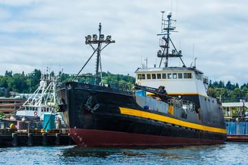 Crabber/Tender, Courageous at Fishermen's Terminal, Seattle