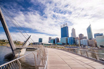 Elizabeth Quay footbridge in Perth waterfront