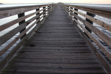 Wooden fishing pier jetty