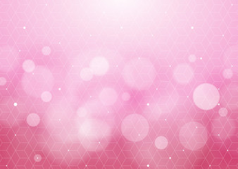 Abstract Pink Background_Honeycomb Structure #Vector Graphics