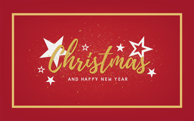 merry christmas and happy new year 2018 vector design