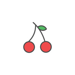 Lychee icons fruit vector design logo illustration