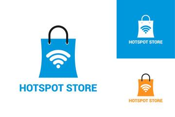 Hotspot Store Logo Template Design