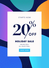 20% OFF Sale Discount Special Offer Promo Ad. Discount Promotion. Sale Discount Email Newsletter Coupon Design.