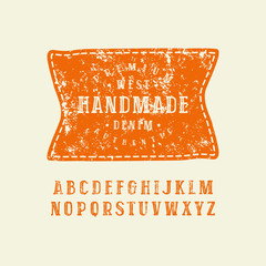 Serif font in the style of handmade graphics