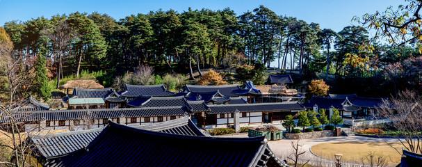 Gangneung-si, Gangwon-do, South Korea - Seongyojang is Typical traditional house(hanok) of Korea in Gangneung-si.