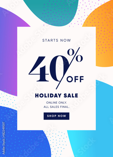 40 Off Special Offer Price Discount Email Banner Design Template