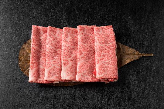 黒毛和牛の霜降り肉The finest Kyushu Japanese beef