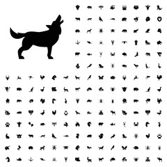 Wolf icon illustration. animals icon set for web and mobile.