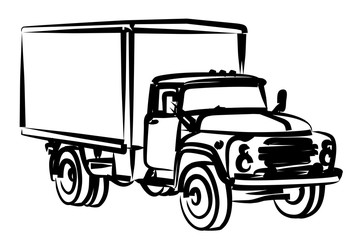 Sketch of the old big truck.