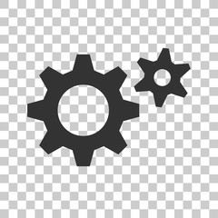 simple gear icon. stock vector object for design