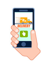 Goods fast delivery service icon