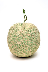 Melon on the isolated white background.