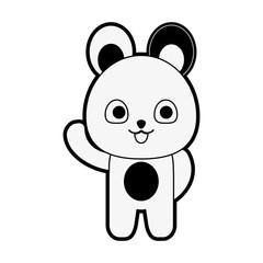 Cute bear cartoon icon vector illustration graphic design