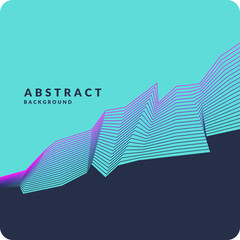 Abstract geometric background with dynamic lines. Vector illustration