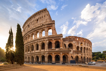 Wall Mural - The Coliseum or Flavian Amphitheatre (Amphitheatrum Flavium or Colosseo), Rome, Italy.