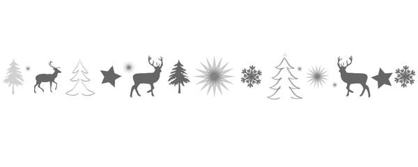 Weihnachtskarte Banner Band mit Weihnchtsmotiven als Hintergrund