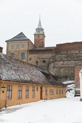 Akershus Festning, Oslo, Norwegen im Winter
