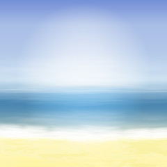 Beach and blue sea. Summer tropical background.