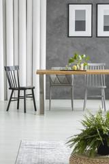 Fern in dining room