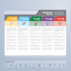 infographics design and marketing icons vector. Business concept