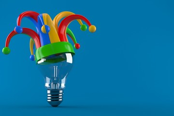 Light bulb with jester hat