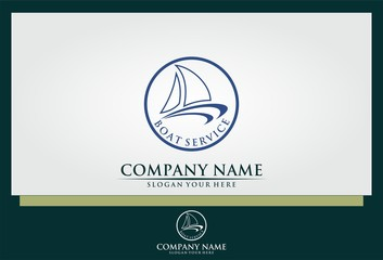 sailing boat service logo