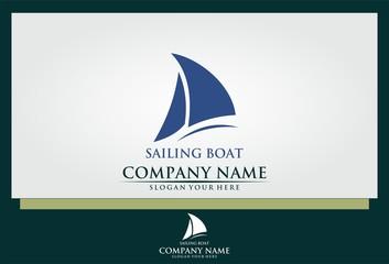 sailing boat icon vector logo