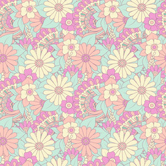 Floral seamless pattern with  flower. Vector background for textile, print, wallpapers, wrapping.
